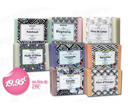 """Pack de 8 savons """"Nature & Tradition"""""""