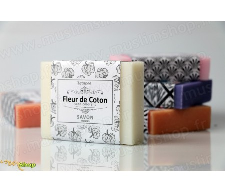 Samoos - Savon solide à la Fleur de coton