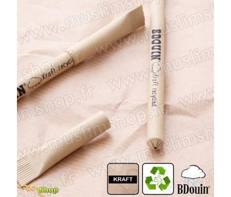 """Stylo en papier recyclé """"Kraft"""" - Bdouin"""