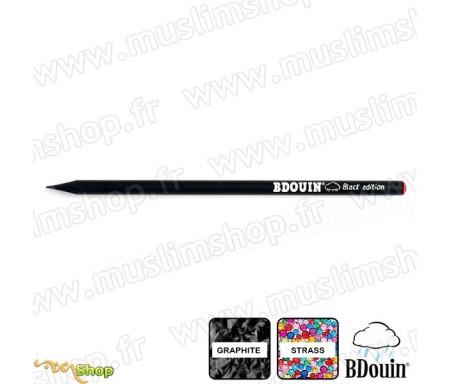"""Crayon en bois et strass Rouge """"Black Edition"""" - Bdouin"""