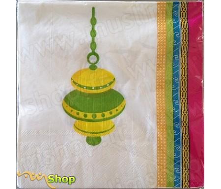 Paquet de 20 Serviettes en papier Eid Mubarak modèle Décorations