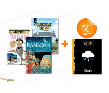 Pack 3 BD Muslim'Show + 1 Agenda Noir