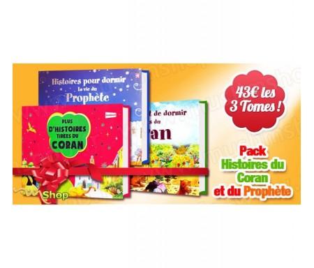 """Pack 3 livres """"Histoires avant de dormir"""" + """"Plus d'histoires tirées du Coran"""""""