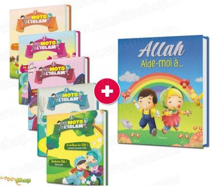 """Pack 5 Tomes """"Petits Mots de l'Islam"""" + """"Allah aide-moi à..."""""""