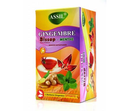 Assil - Thé naturel au Gingembre, Bissap & menthe