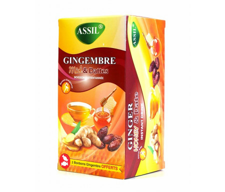 Assil - Thé naturel au Gingembre, miel & dattes rouges