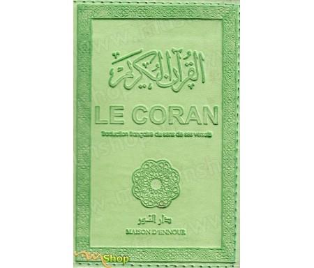 Le Coran traduction française du sens de ses versets (vert clair) - petit modèle