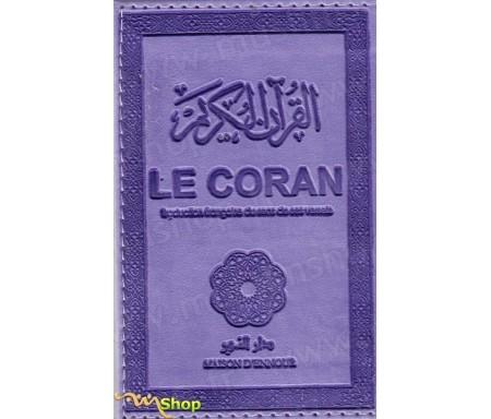 Le Coran traduction française du sens de ses versets (violet) - petit modèle