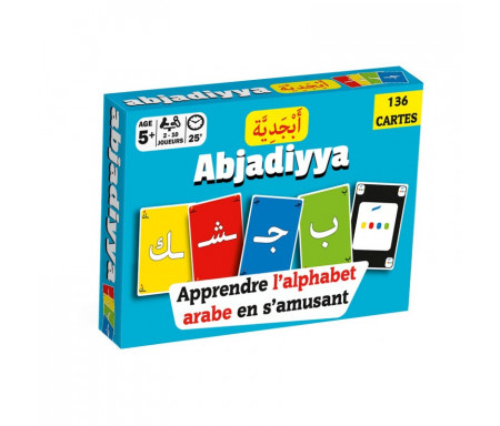 Jeu de cartes «Abjadiyya» - Apprendre l'alphabet arabe en s'amusant