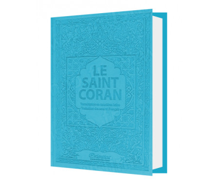 Le Saint Coran - Transcription (phonétique) en caractères latins et Traduction des sens en français - Edition de luxe (Couvertur