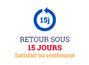 Retour sous 15 jours